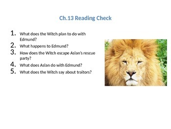 The Chronicles of Narnia: The Lion, the Witch, and the Wardrobe Ch.13  Lesson
