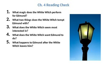 The Chronicles of Narnia: The Lion, the Witch, and the Wardrobe Ch.4  Lesson