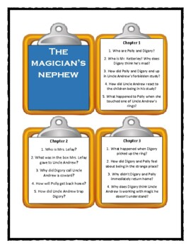 The Chronicles of Narnia - The Magician's Nephew - Discussion Cards