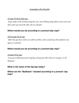The Chrysalids Chapter Questions