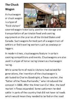The Chuck Wagon Handout