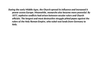 The Church in the Middle Ages Powerpoint