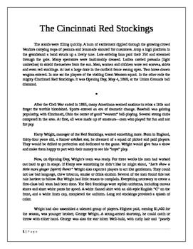 The Cincinnati Red Stockings