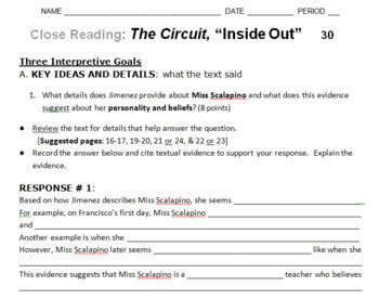 "The Circuit ""Inside Out"" Close Reading & Debate Team Carousel"