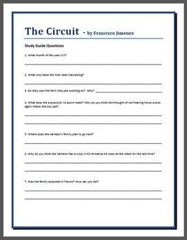 """The Circuit"" Study Guide Questions"