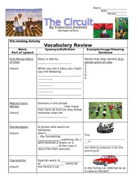 The Circuit (Excerpt Edition from the Original Book) - Vocabulary Review & More