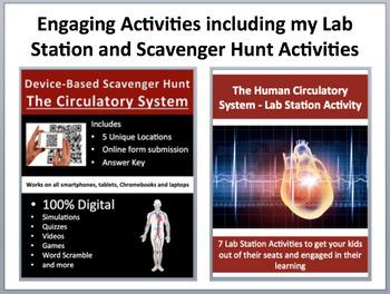 The Circulatory System - Complete 5E Lesson Bundle