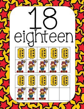 The Circus Bunch Number Posters 1-20