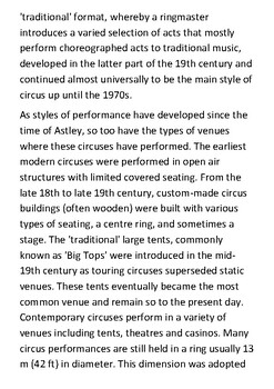 The Circus Handout