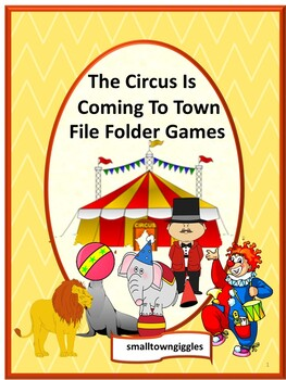 Circus Math & Literacy File Folder Games Autism Special Education