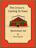 Circus Math and Literacy Worksheets for Kindergarten ESL Special Education