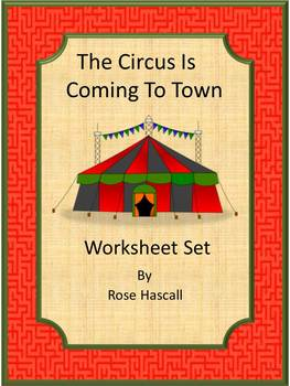 Circus NO PREP Math & Literacy Printables Worksheets for K