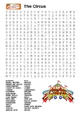 The Circus Word Search