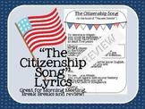 Citizenship Song