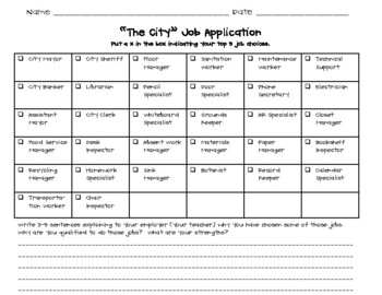 """""""The City"""" Classroom Jobs Pack - Lime Green, Turquoise, and Grey (Chevron Theme)"""