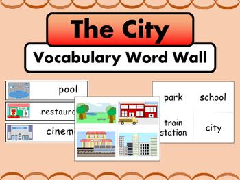 The City ESL Vocabulary Word Wall
