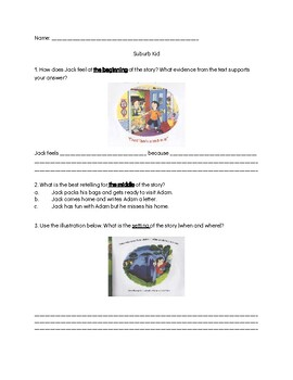 The City Kid & the Suburb Kid Comprehension Questions