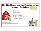 The City Mouse and The Country Mouse--Literacy Activities
