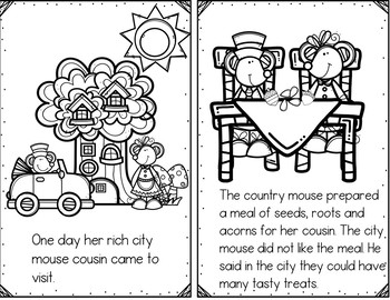 The City Mouse and the Country Mouse (Retelling Cards/Pocket Chart Activities)