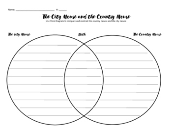 The City Mouse and the Country mouse Venn Diagram