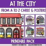 The City Themed Alphabet Flaschards   ESL Vocabulary   ABC
