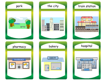 The City Vocabulary ESL Card Games