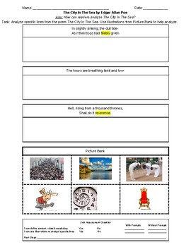 The City in The Sea section 4 worksheet