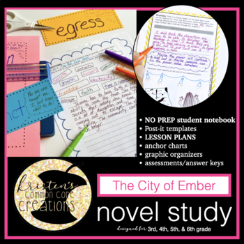 The City of Ember 99 Page Novel Study Student Workbook Lesson Ideas