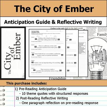 The City of Ember - Anticipation Guide & Reflection Writing