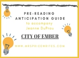 The City of Ember Anticipation Guide using C.A.F.E.
