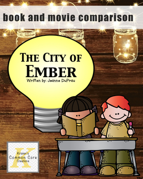 The City of Ember Movie and Book Comparison and FREE RAFT activity