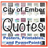 The City of Ember Novel Quotes Posters and Powerpoints