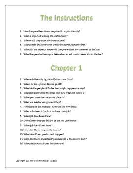 The City of Ember Novel Study Guide