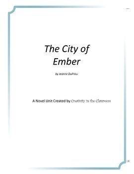 The City of Ember Novel Unit Plus Grammar