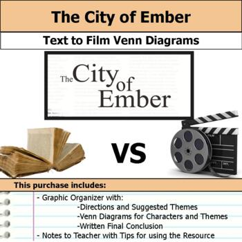 The City of Ember - Text to Film Venn Diagram & Written Conclusion