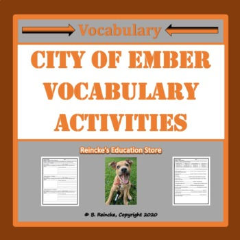 The City of Ember Vocabulary Worksheets