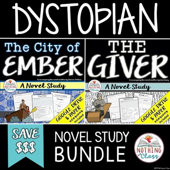 The City of Ember and The Giver Novel Study Units: Dystopian Bundle