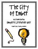 The City of Ember, by J. DuPrau, Complete Lit Unit, 79 Total Pages!!!
