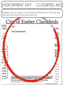 The City of Ember by Jeanne DuPrau- Novel Study Resources and Activities