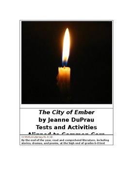 The City of Ember by Jeanne DuPrau Tests and Activities