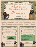 The Civil Rights Act: Ruby Bridges and MLK Jr. PowerPoint & Activity Packet