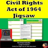 The Civil Rights Act of 1964 Jig Saw Activity (Print and G