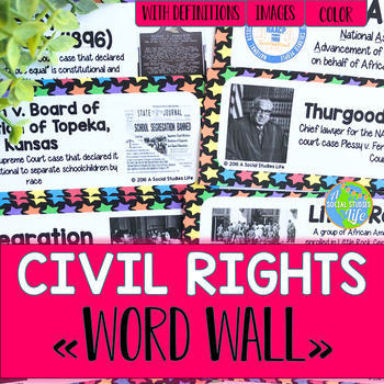 Civil Rights Movement Word Wall