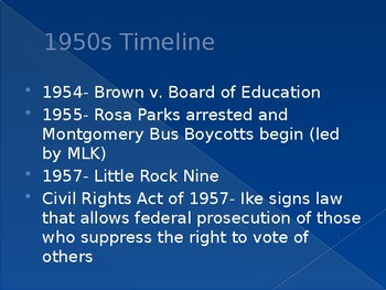 The Civil Rights Movement (1960s)