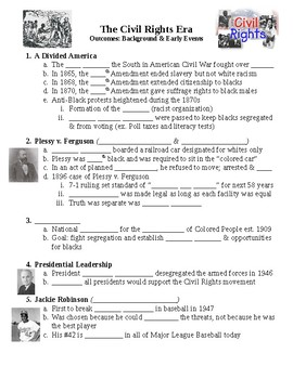 The Civil Rights Movement Background Guided PowerPoint Lecture Notes