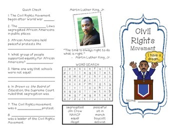 Civil Rights Movement Brochure