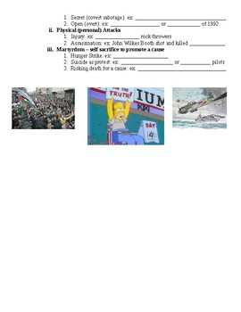 The Civil Rights Movement Forms of Protest Guided PowerPoint Lecture Notes
