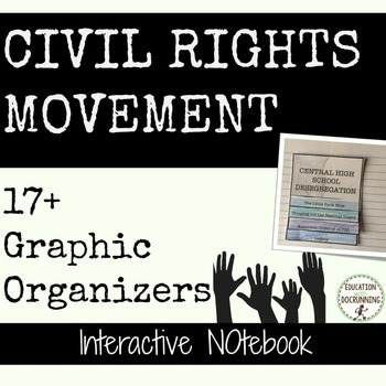 Civil Rights Movement Interactive Notebook Pages