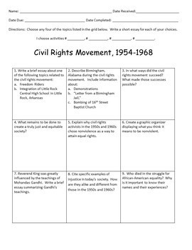 The Civil Rights Movement Discussions and Debates