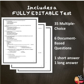 The Civil Rights Movement TEST - Common Core Aligned! Editable (U.S.  History)